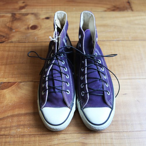 Rolling on [vintage] SC-0944 CONVERSE ALL STAR 90's purple lacing canvas shoes high integration