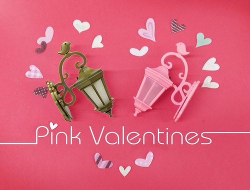 ★ ★ Valentine love illuminated mini Wall magnet clip combinations (Classic princess pink + gold)