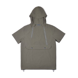 oqLiq - AdHeRe - Double zippered large pocket hooded top (Army Green)