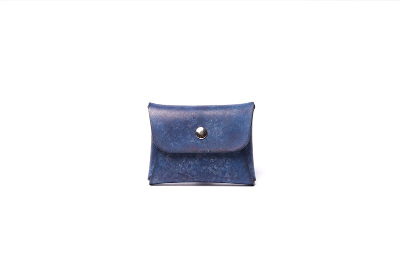 Hiker / Italy leather -classic coin purse (Navy blue)