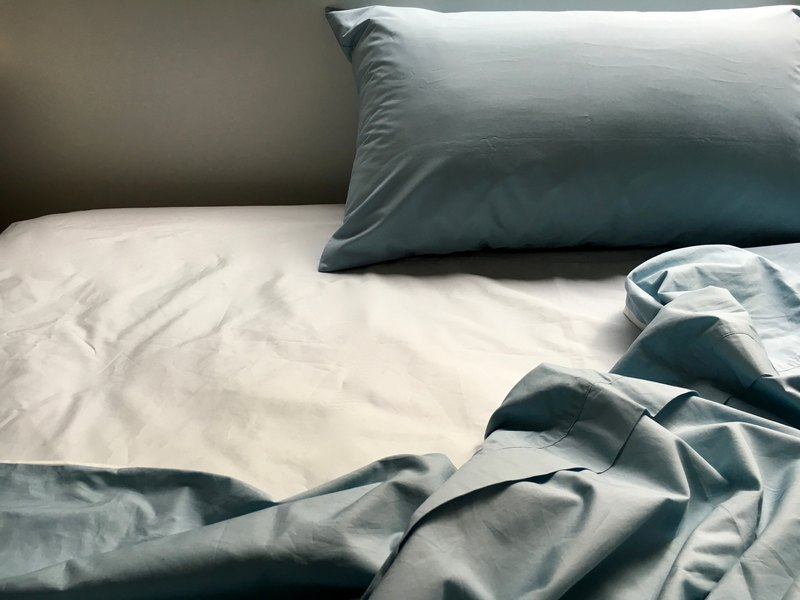 Single person _ night waiting for me organic cotton single strap quilt cover _ 靛 blue
