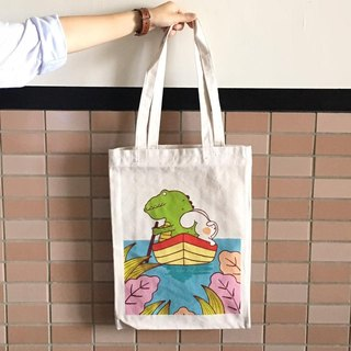 """Art of the fish"" for themselves brave once illustration canvas bag canvas cloth can shoulder --D0007"