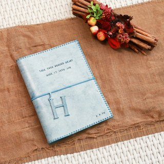 hykcwyre Handstitched Leather Notebook Cover, Material Pack, Personalized Cover