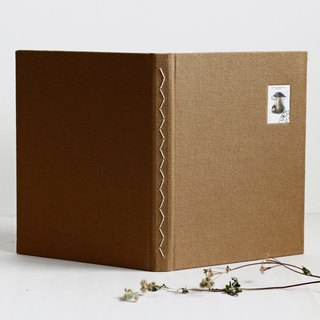 Large Size Long Stitch Bound Notebook. Decorated with Samp. (Dark goldenrod)