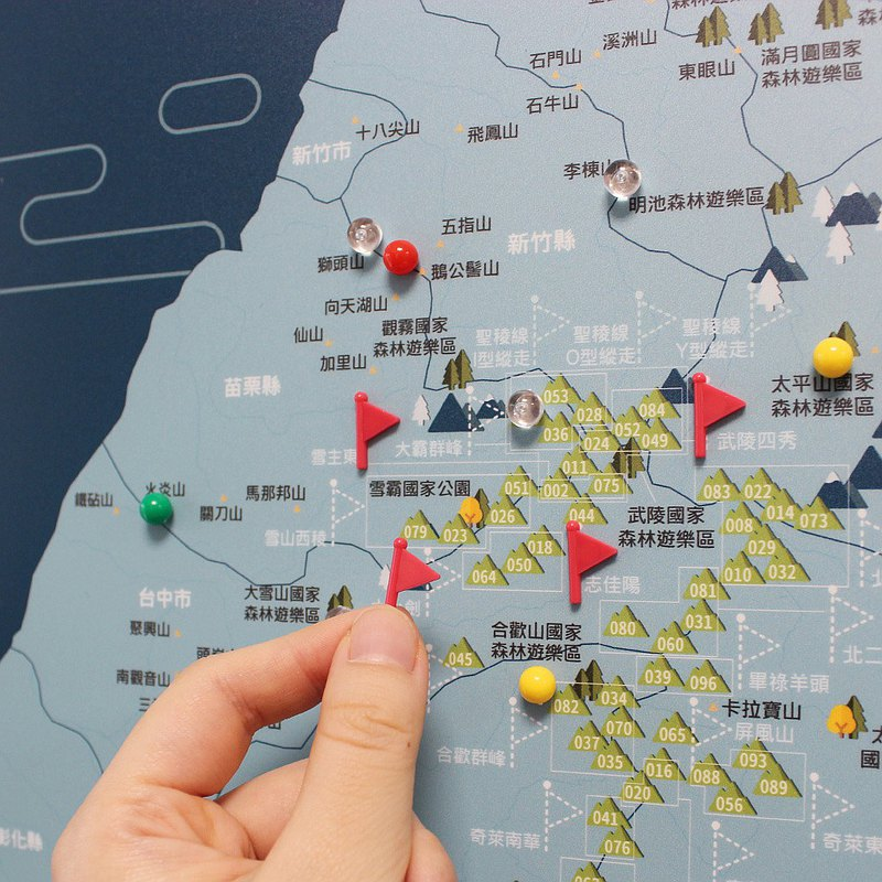 UMade 訂製地圖專用 插旗地標磁鐵扣 (50顆)