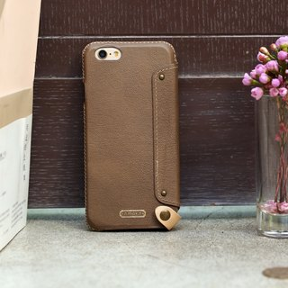 iPhone 6 /6S / 4.7 inch Mystery Series Leather Case - Brown