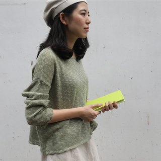 [Rolling cloth is a red balloon] summer cotton and cotton blended sweater pullover two colors