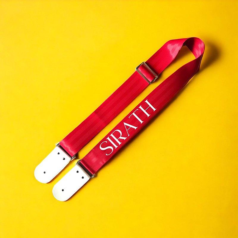 個性定制紅色吉他背帶