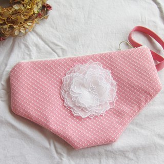 Embroidered  Lace clutch bag ,  clutch purse with wrist strap ,bags