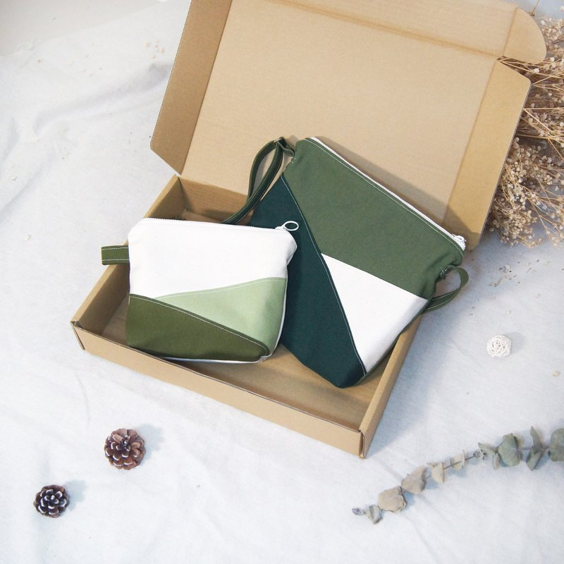Limited gift matcha bag small gift box - shoulder bag + cosmetic bag (into the countdown)