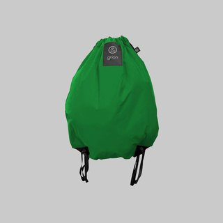 grion waterproof bag - back section (L) emerald