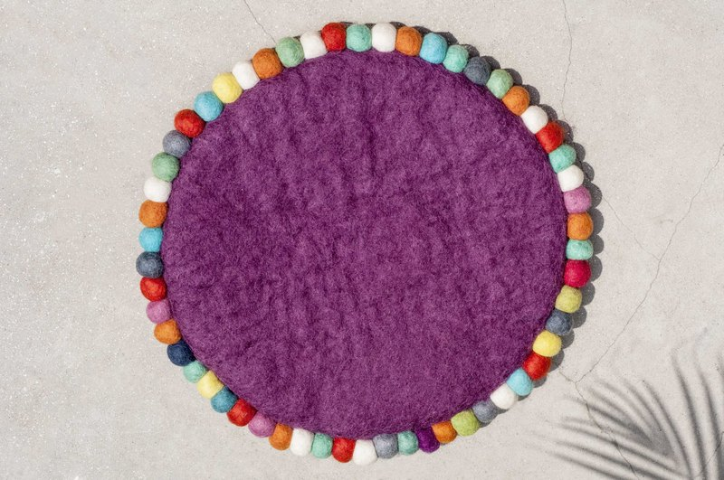 Chinese Valentine's Day Gifts Wool Felt Wool Felt Carpet Wool Felt Ball Mats Wool Felt Pads - Rainbow