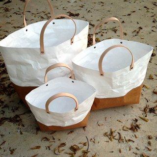 Tote Bag Set : Tyvek and Kraft paper bag