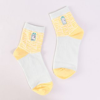 Picture book painter cooperation item foot memory public telephone cotton socks