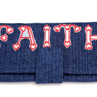 Belief in Change Denim Wallet