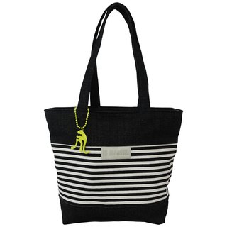 【Is Marvel】Black and white cowboy striped bag