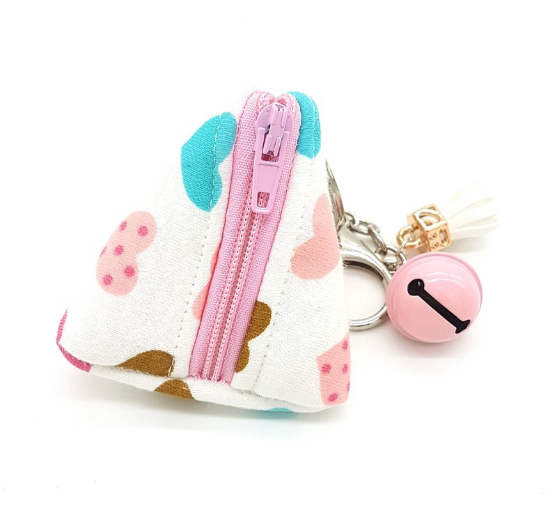 Dumpling Coin Keychain Pouch - Colorful Hearts