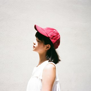 Baseball Cap Candy Color Ball Cap Berry Red