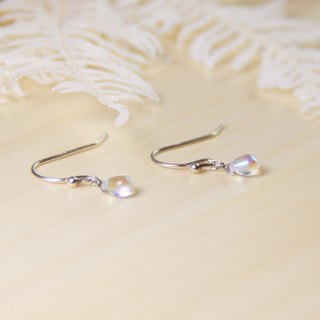 Classic Series Swarovski White Opal Handmade 925 sterling silver earrings |