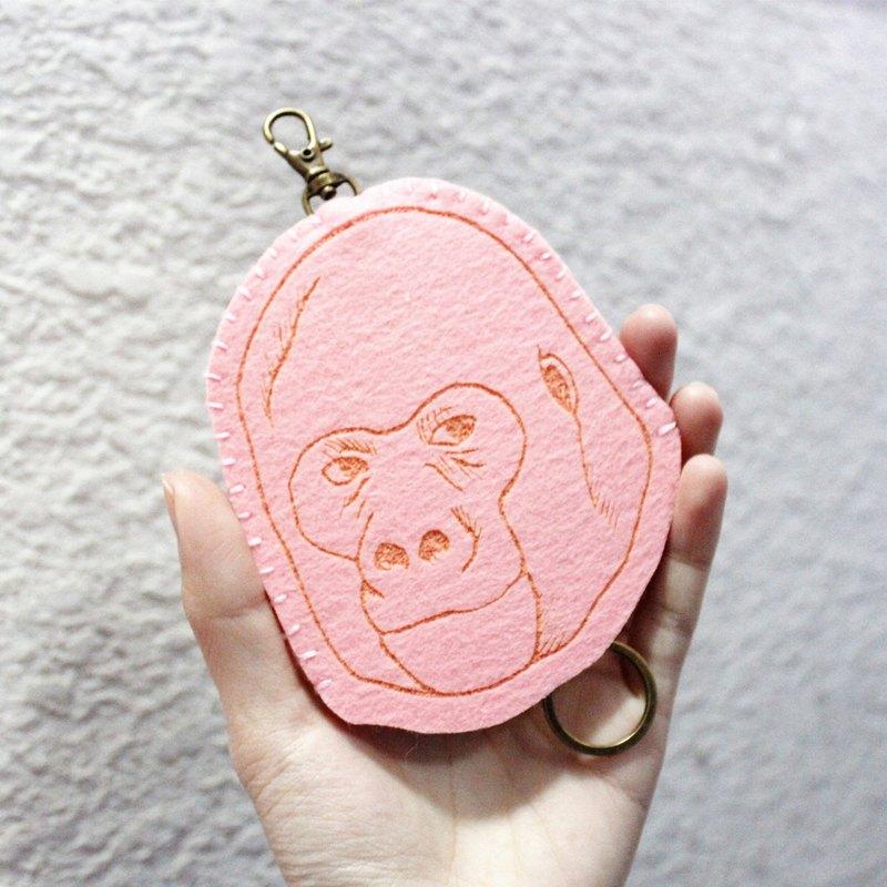 Animal-動物系列-羊毛氈鑰匙包Key sets/羊毛氈鑰匙套 <粉猩猩>