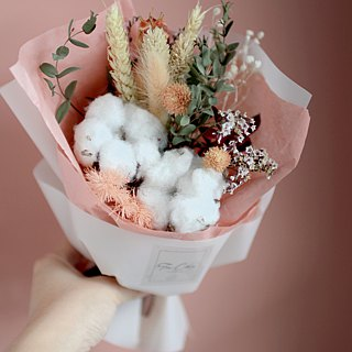 Dry bouquet of cotton