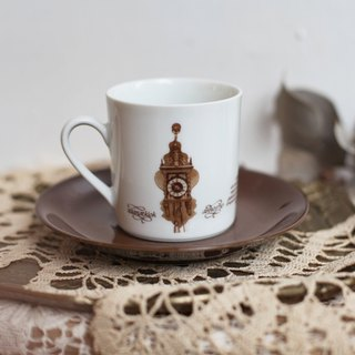 [Good day fetish] 3 German vintage retro antique clock commemorative coffee cup set