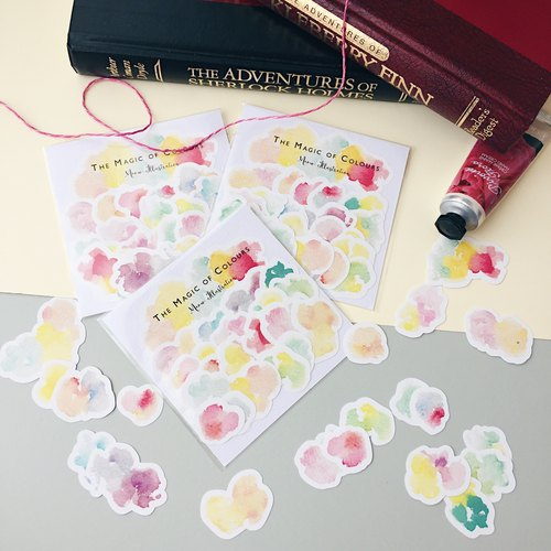 Watercolour Mark Planner Stickers - Watermark - The Magic of Colours (WT-020)