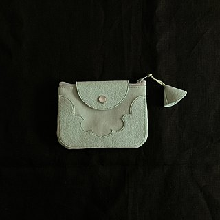 temple coin purse < opal green >