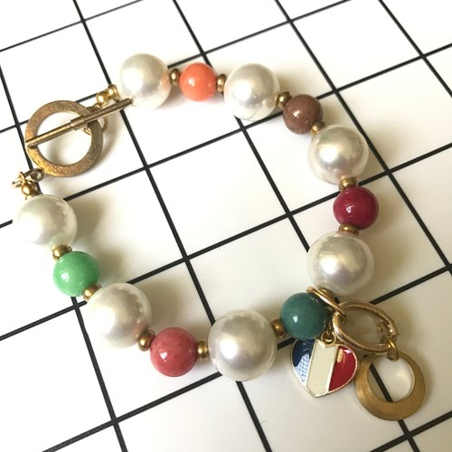 Thailand Motta design - France color colored beaded bracelet bracelet
