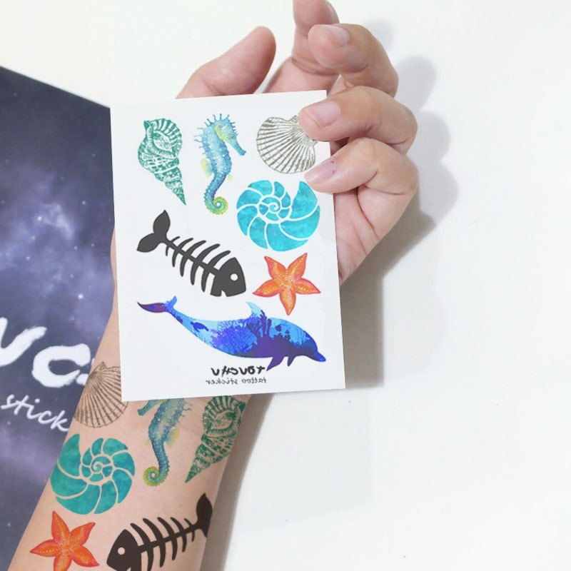 TU Tattoo Sticker - Ocean small collection / Tattoo / waterproof Tattoo / original / tattoo sticker /