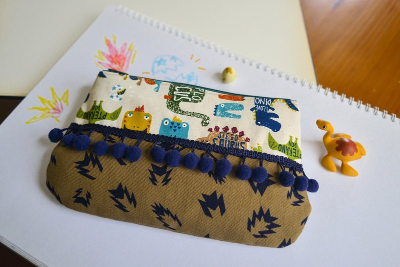 Hairball Dinosaur Cosmetic Bag