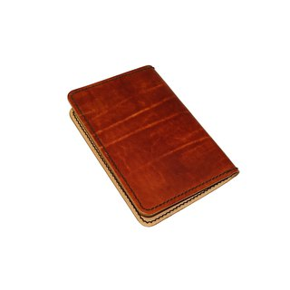 Passport holder/hand dyed/double needle hand sewing/customized/Italian vegetable tanned leather