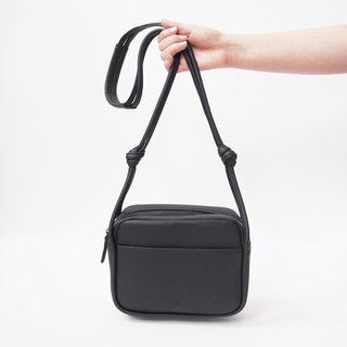Lili Leather Crossbody Bag in Black Color