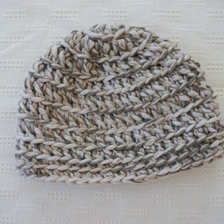 Knit hat,beige,wool,beanie