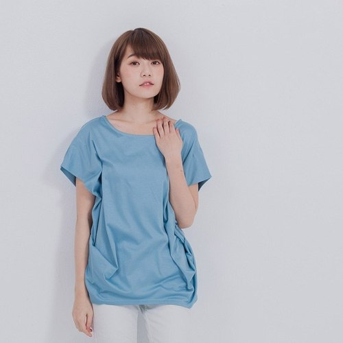 Martha crew neck top / blue