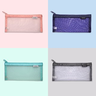 4-color transparent mesh bag | storage bag storage bag pencil bag cosmetic bag