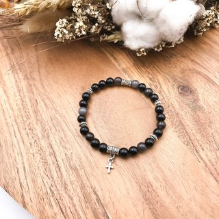 Starry Night Guardian Obsidian Fine-Section Anti-Villain Evade Natural Stone Bracelet