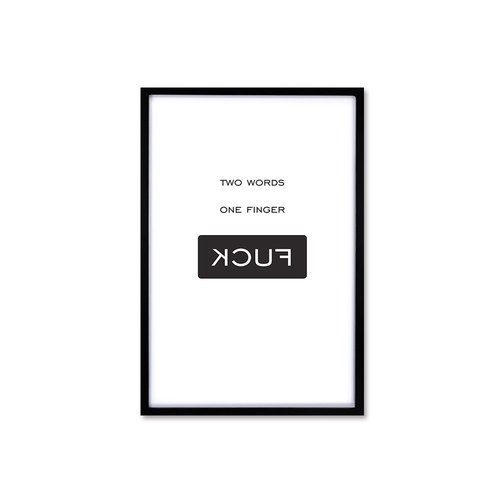 HomePlus Nordic Wind Decorative Photo Frame FUCK Magazine Black Box 63x43cm Interior Design Layout Picture Frame Wall Creative Wall Sticker