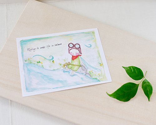 Dragon Boat Travel] hand-painted postcards
