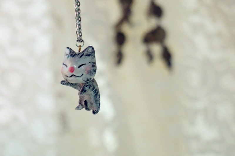 [Series] cat necklace animal jewelry handmade Ruantao