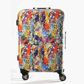 Flower room - hand-printed fashion aluminum frame 20 吋 suitcase / suitcase