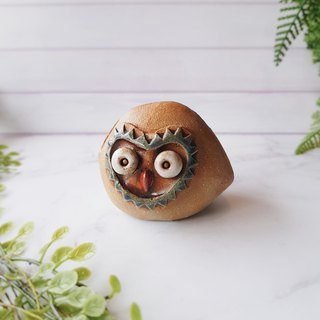 D-12 Mask Eagle Card Holder│Yoshino Hawk x Owl Pottery Ornaments Pure hand-made Desks, Desks Stationery Healing Small Things