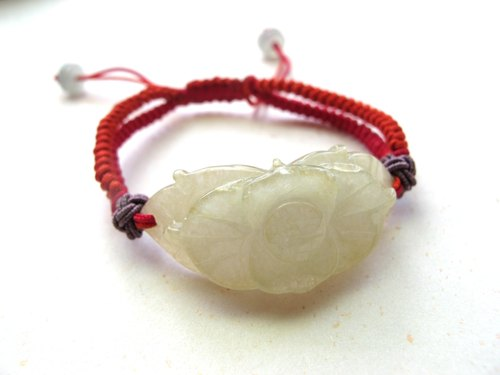 [Ice yellow wreath] jade (Burma jade) x jewelry line - Handmade natural stone series