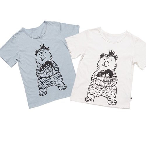 ★ combination of hi price ★ organic cotton T_ bear love your brother installed