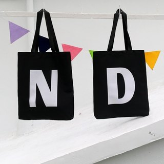 SNUPPED uppercase shopping bag (black)