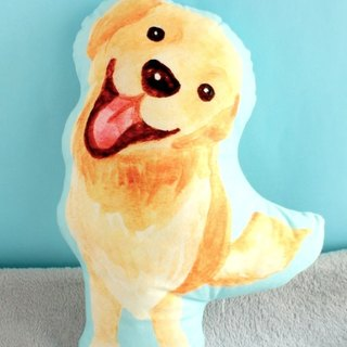 Golden Retriever Plush Pillow/Dog print double sided cushion/animal cute toy/ La