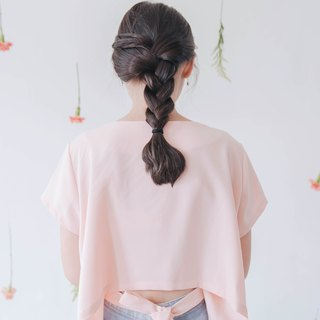 Pink High Low Top with Back Ribbon