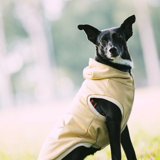 Tencel cap pet warm jacket - khaki