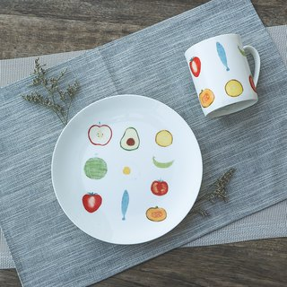 8 Enamel Plate - Simple Life / Simple / Nordic Style / Plate / Bone China / Microwave / Via SGS