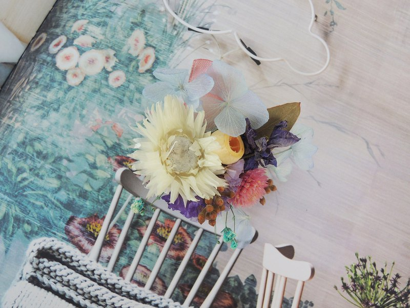 Sweet Lap Classic Series Hand Made Spring Elegant Lotus Dry Blue